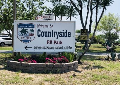 Countryside RV Park Entrance Sign